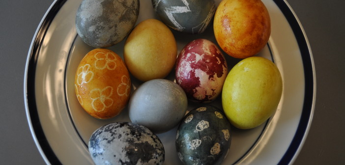 7 colored eggs
