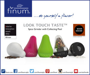 Look Touch Taste Spice Grinders by Finum