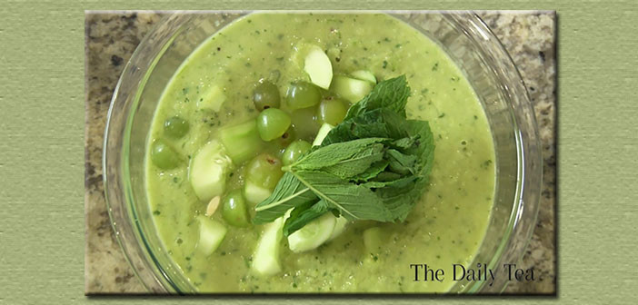 The Alexis Show – Green Mint Tea Gazpacho (VIDEO)
