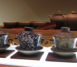 Chinese tea set with 3 Gaiwan