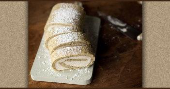 Earl Grey Roll Cake with Vanilla Buttercream