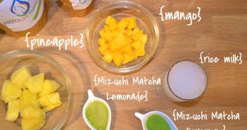 Matcha Mango Pineapple Smoothie